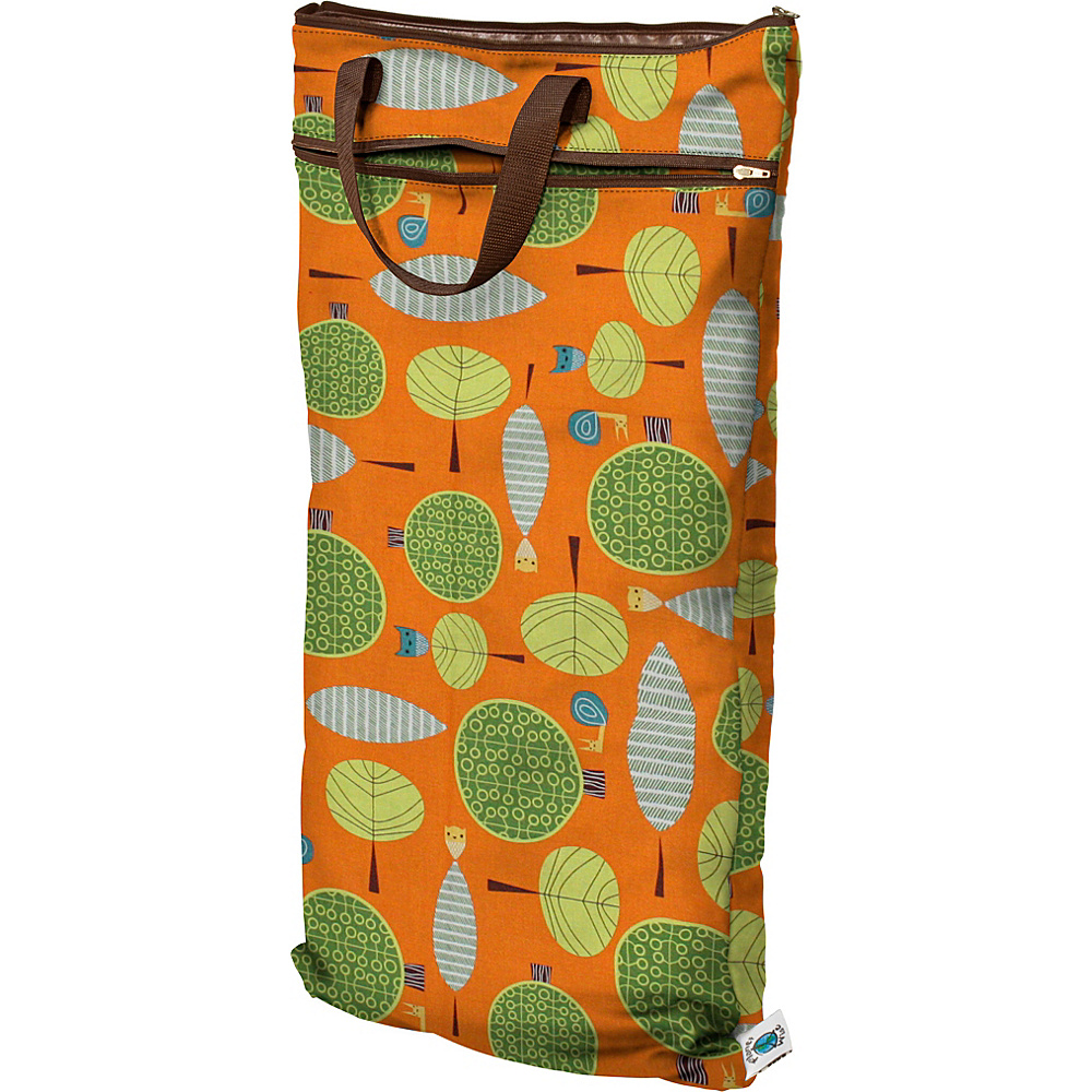 Planet Wise Hanging Wet/Dry Bag Orange Woods - Planet Wise Diaper Bags & Accessories