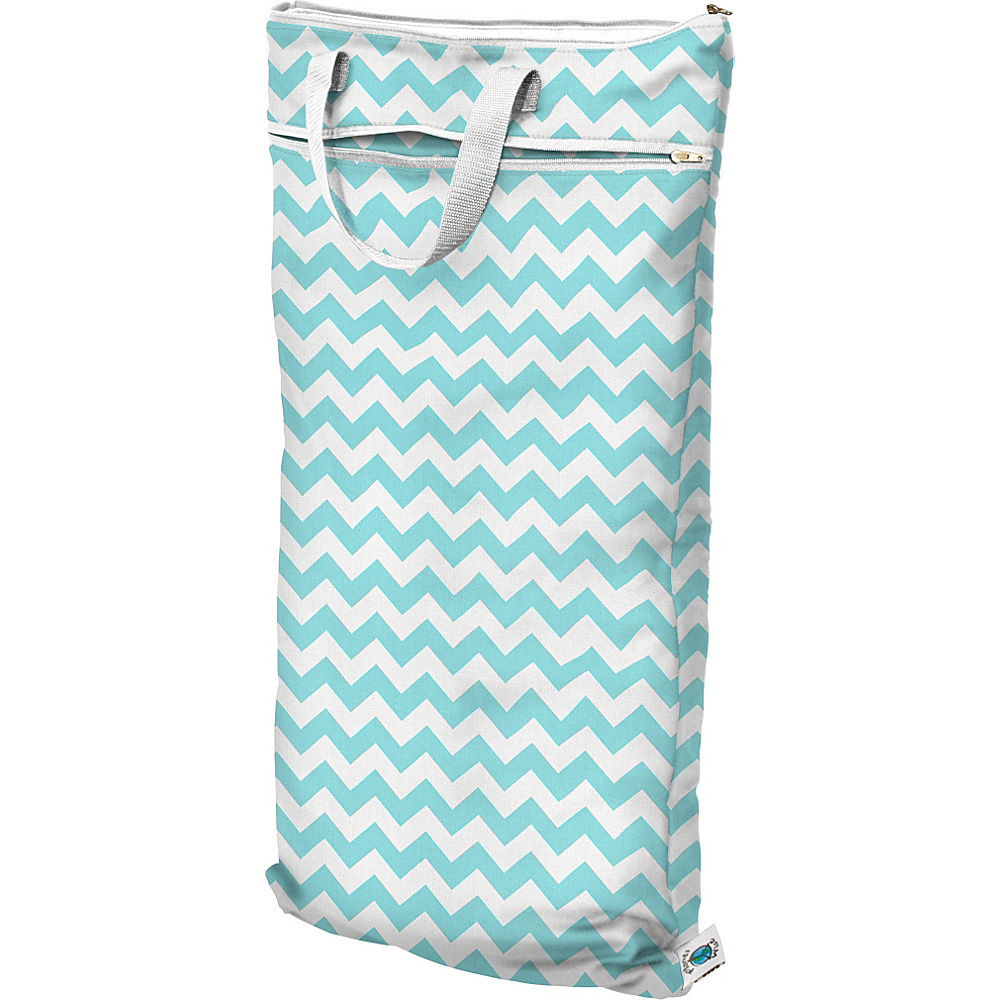 Planet Wise Hanging Wet Dry Bag Teal Chevron Planet Wise Diaper Bags Accessories