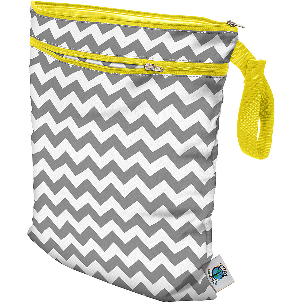Planet Wise Wet Dry Bag Gray Chevron Planet Wise Diaper Bags Accessories