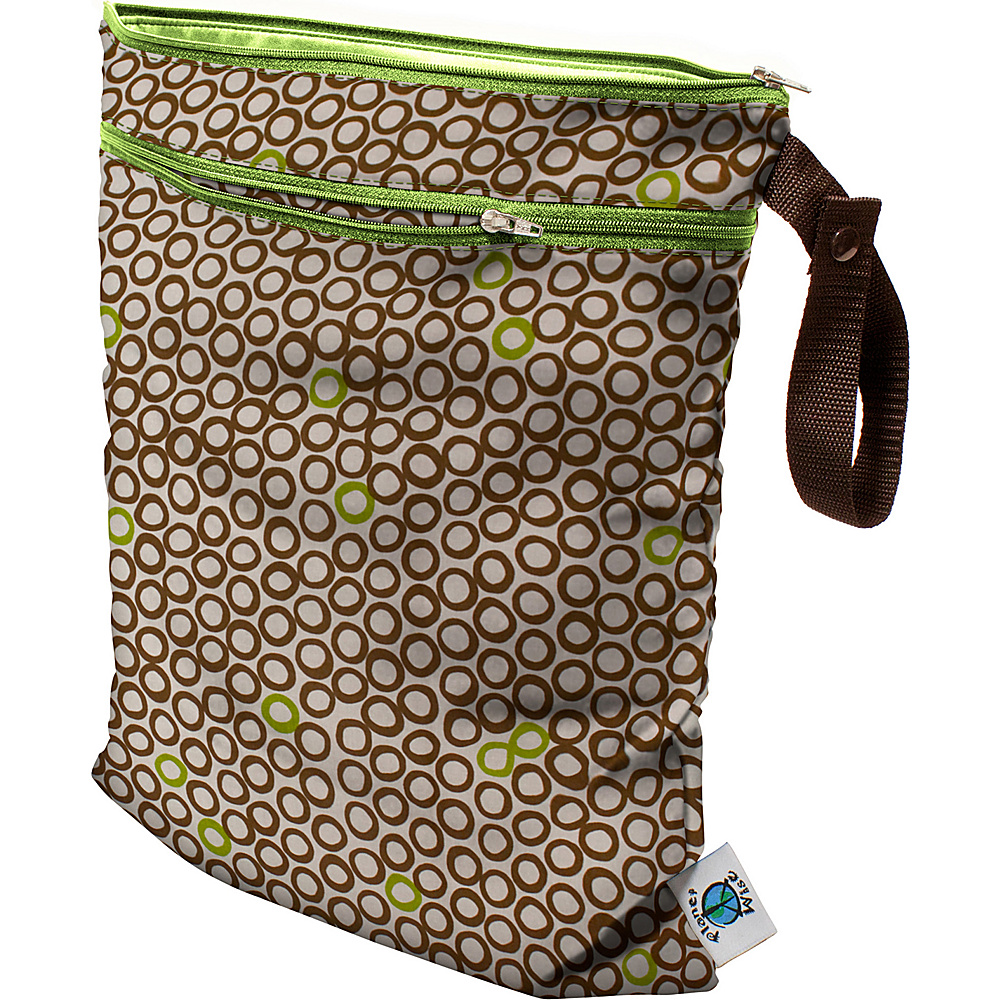 Planet Wise Wet/Dry Bag Lime Cocoa Bean - Planet Wise Diaper Bags & Accessories