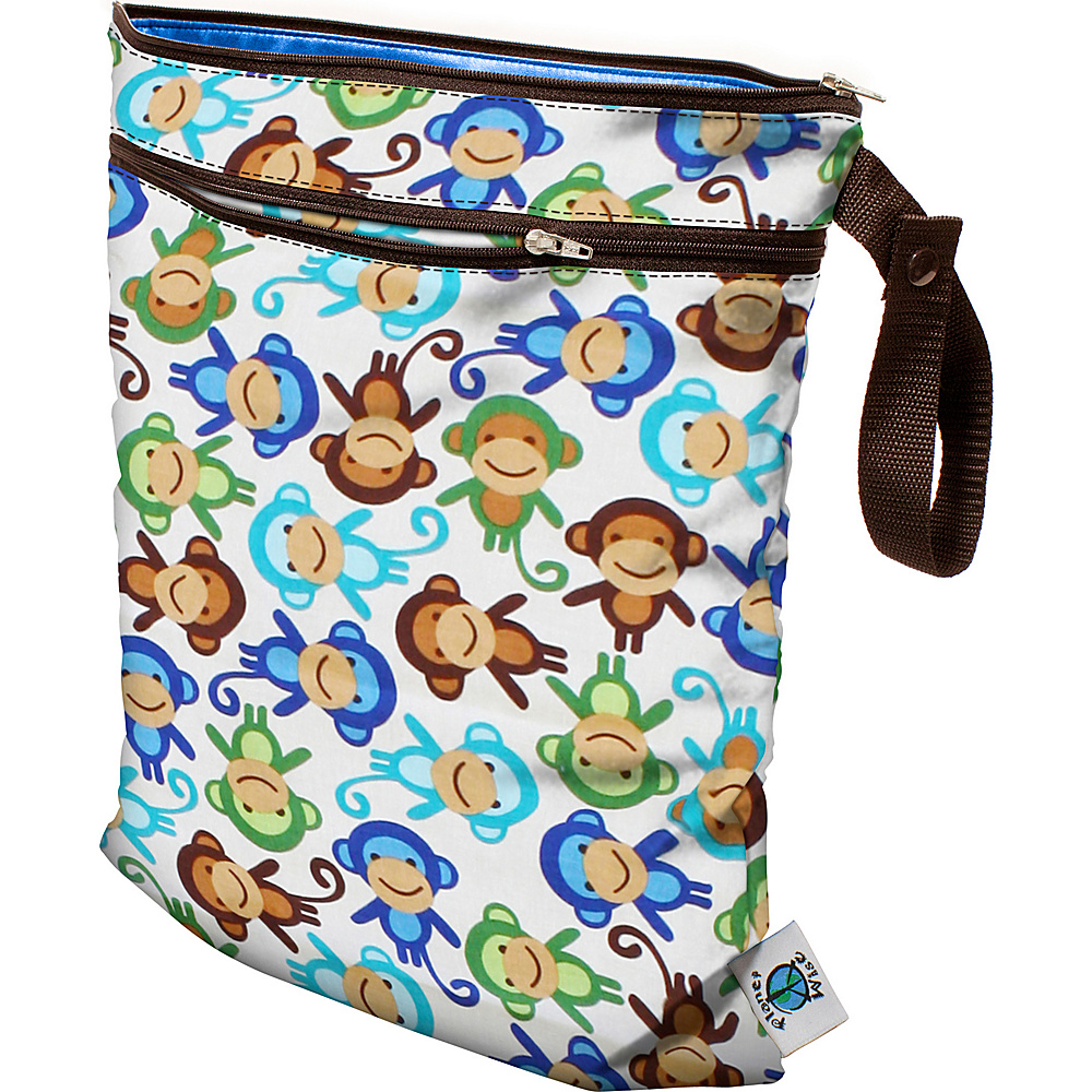 Planet Wise Wet Dry Bag Monkey Fun Planet Wise Diaper Bags Accessories