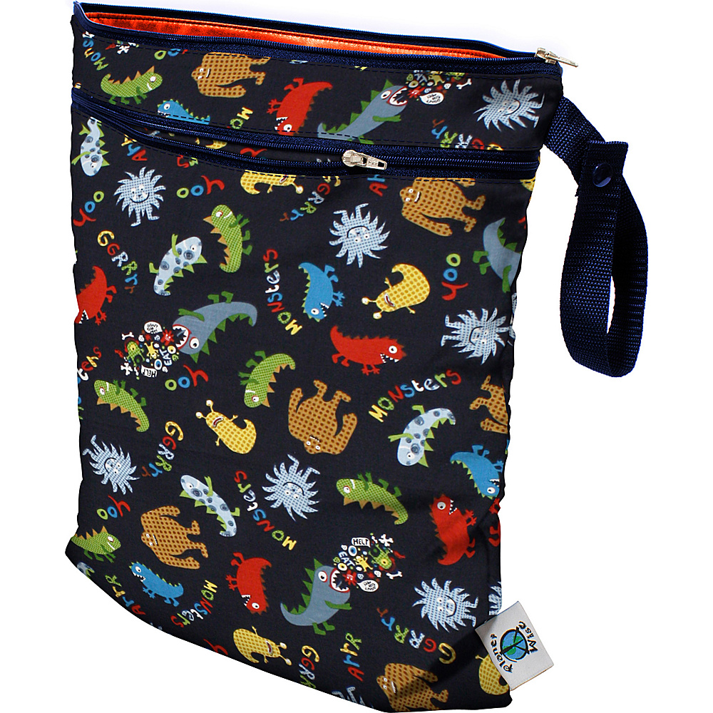 Planet Wise Wet/Dry Bag Monster Mash - Planet Wise Diaper and Baby Accessories