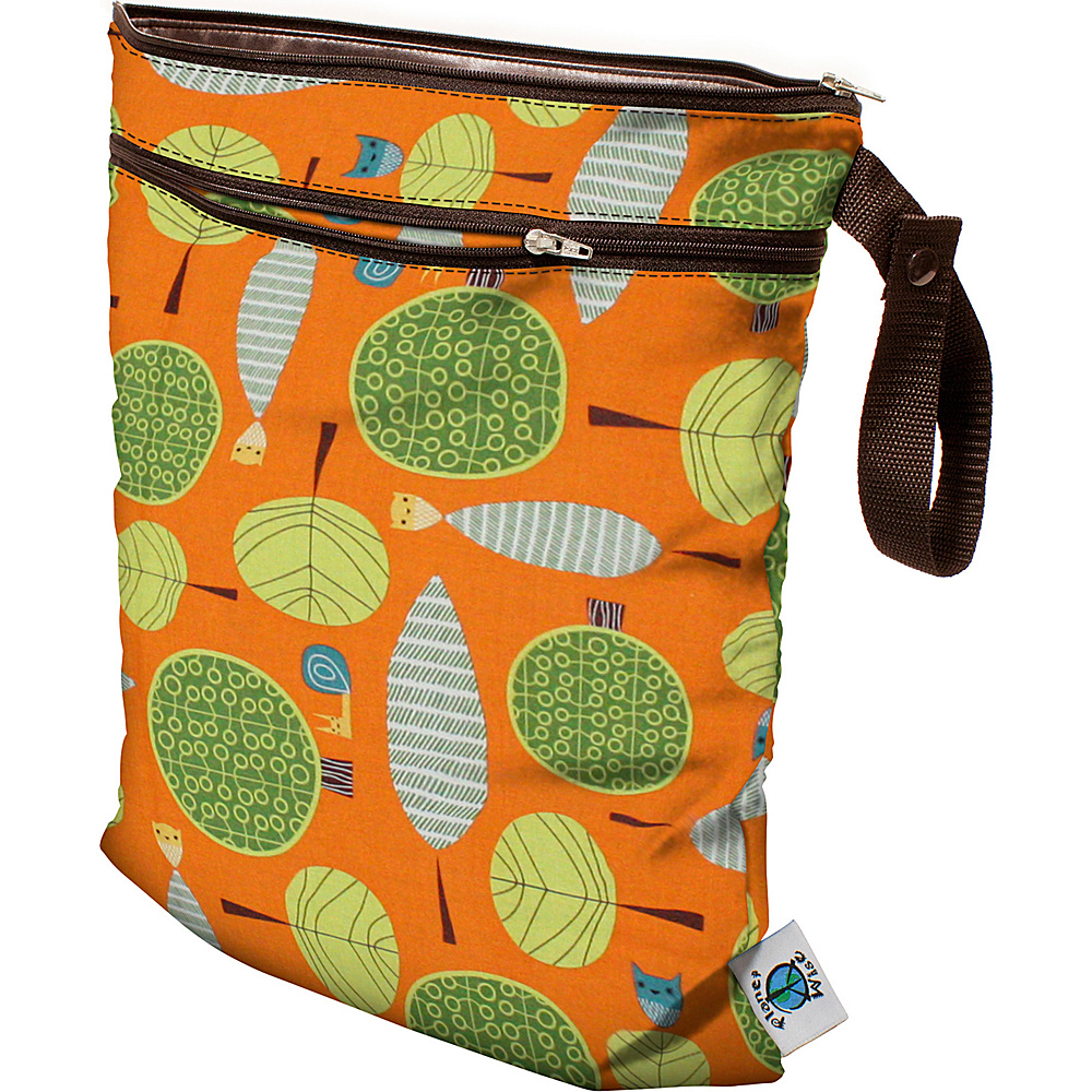 Planet Wise Wet Dry Bag Orange Woods Planet Wise Diaper Bags Accessories