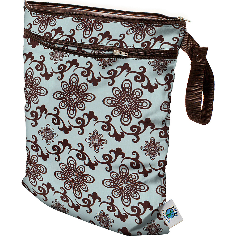 Planet Wise Wet/Dry Bag Aqua Swirl - Planet Wise Diaper Bags & Accessories