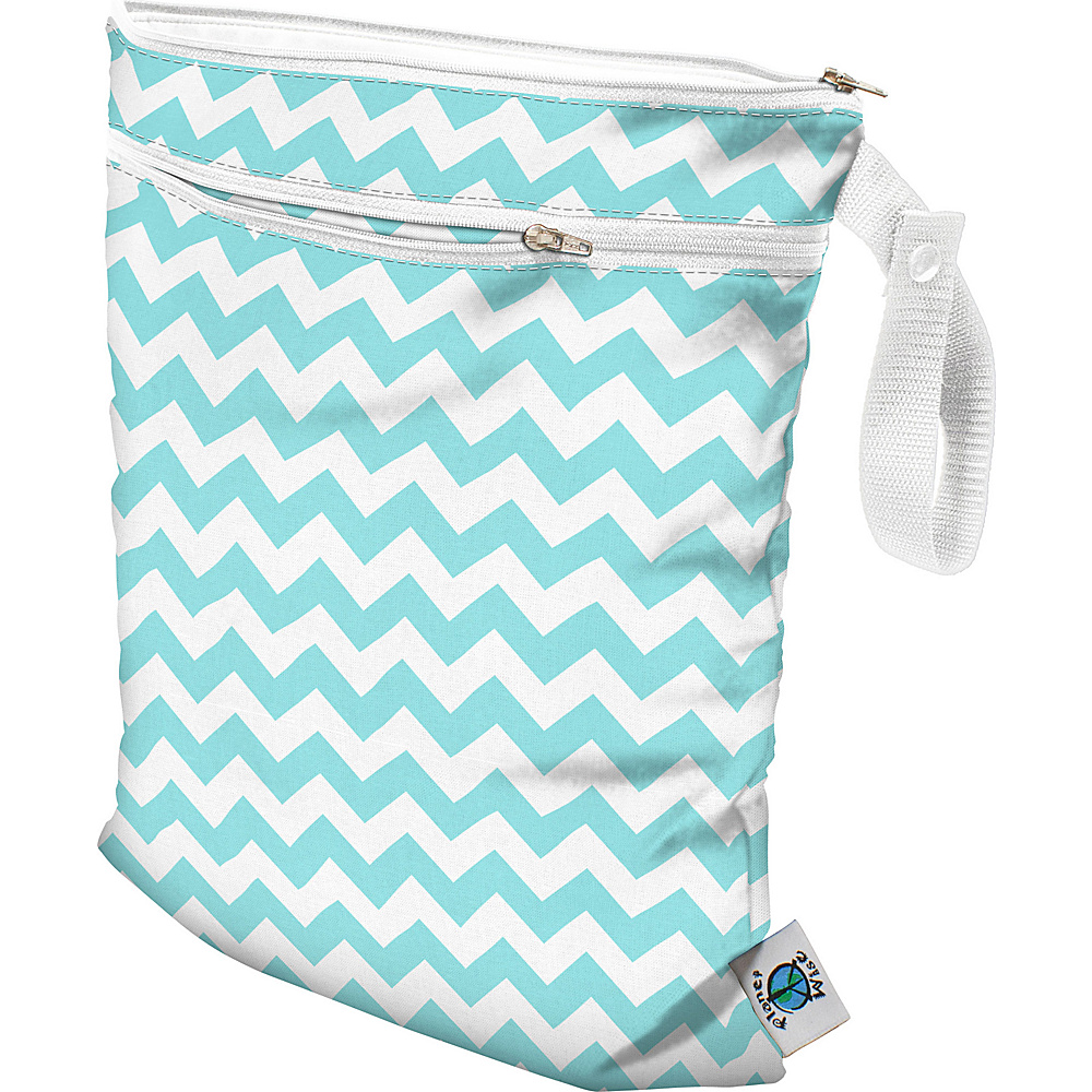 Planet Wise Wet/Dry Bag Teal Chevron - Planet Wise Diaper Bags & Accessories