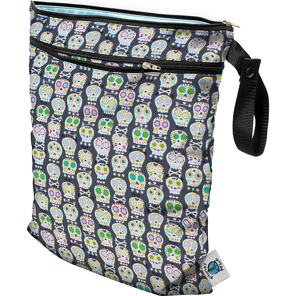 Planet Wise Wet/Dry Bag Carnival Skulls - Planet Wise Diaper and Baby Accessories