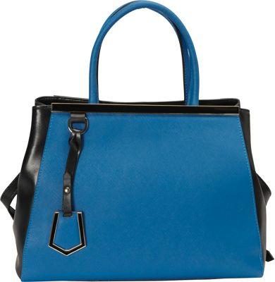 Donna Bella Designs Madison Tote Blue - Donna Bella Designs Leather Handbags