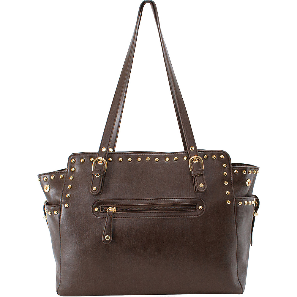 Parinda Felicity Tote Brown Parinda Manmade Handbags