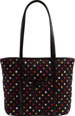 Vera Bradley Small Trimmed Vera Tote Havana Dots - Vera Bradley Fabric Handbags