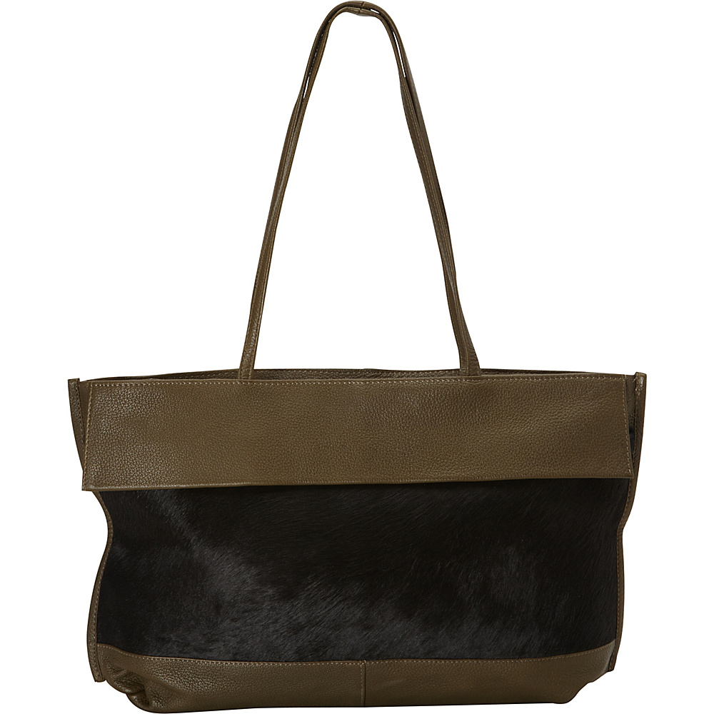 Latico Leathers Barclay Tote Black on Olive Latico Leathers Leather Handbags