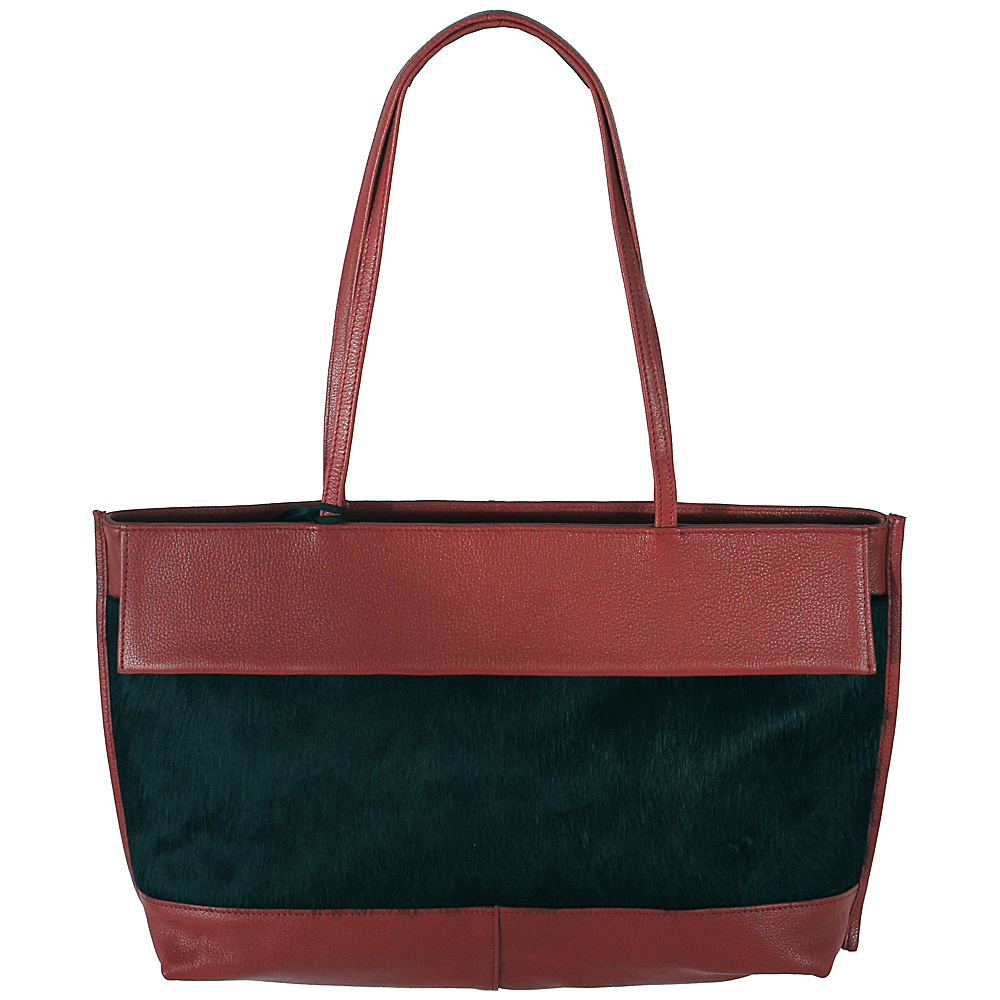 Latico Leathers Barclay Tote Black on Red - Latico Leathers Leather Handbags - Handbags, Leather Handbags