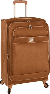 "Image of Anne Klein Luggage Houston 24"" Expandable Spinner Tan - Anne Klein Luggage Large Rolling Luggage"