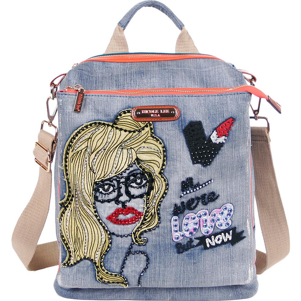 Nicole Lee Jodie Blonde Print Convertible Backpack Purse Blonde - Nicole Lee Fabric Handbags