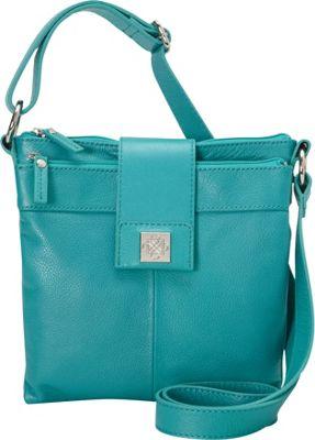 Piazza Nola Crossbody Mediterranean Blue - Piazza Leather Handbags