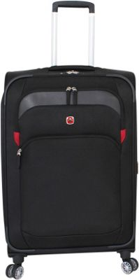SwissGear Travel Gear SwissGear Travel Gear 24 inch 8 Wheeled Spinner Black - SwissGear Travel Gear Softside Checked