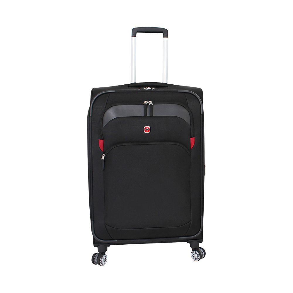SwissGear Travel Gear 24 8 Wheeled Spinner Black SwissGear Travel Gear Softside Checked