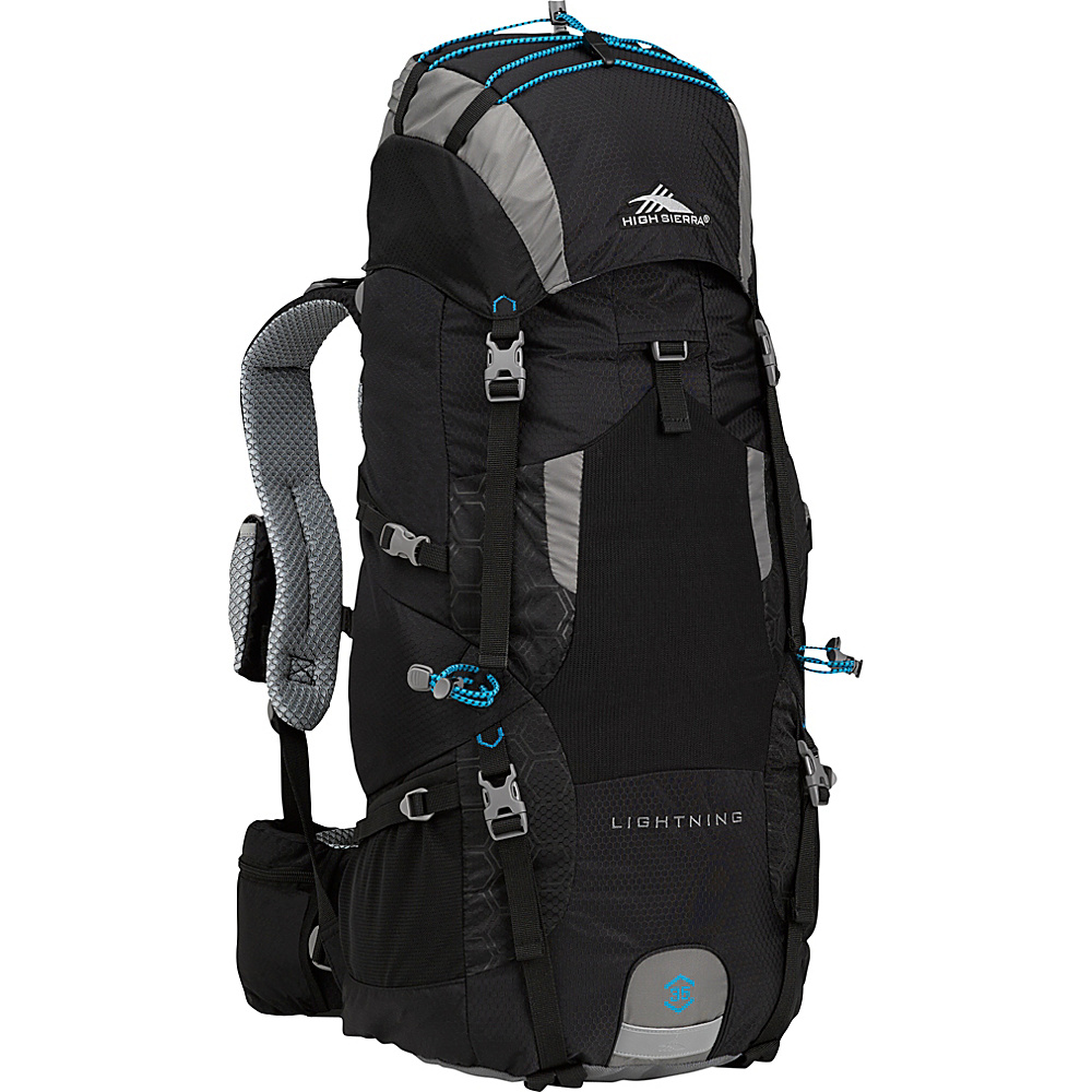 High Sierra Lightning 35 Frame Pack BLACK/CHARCOAL/POOL - High Sierra Day Hiking Backpacks