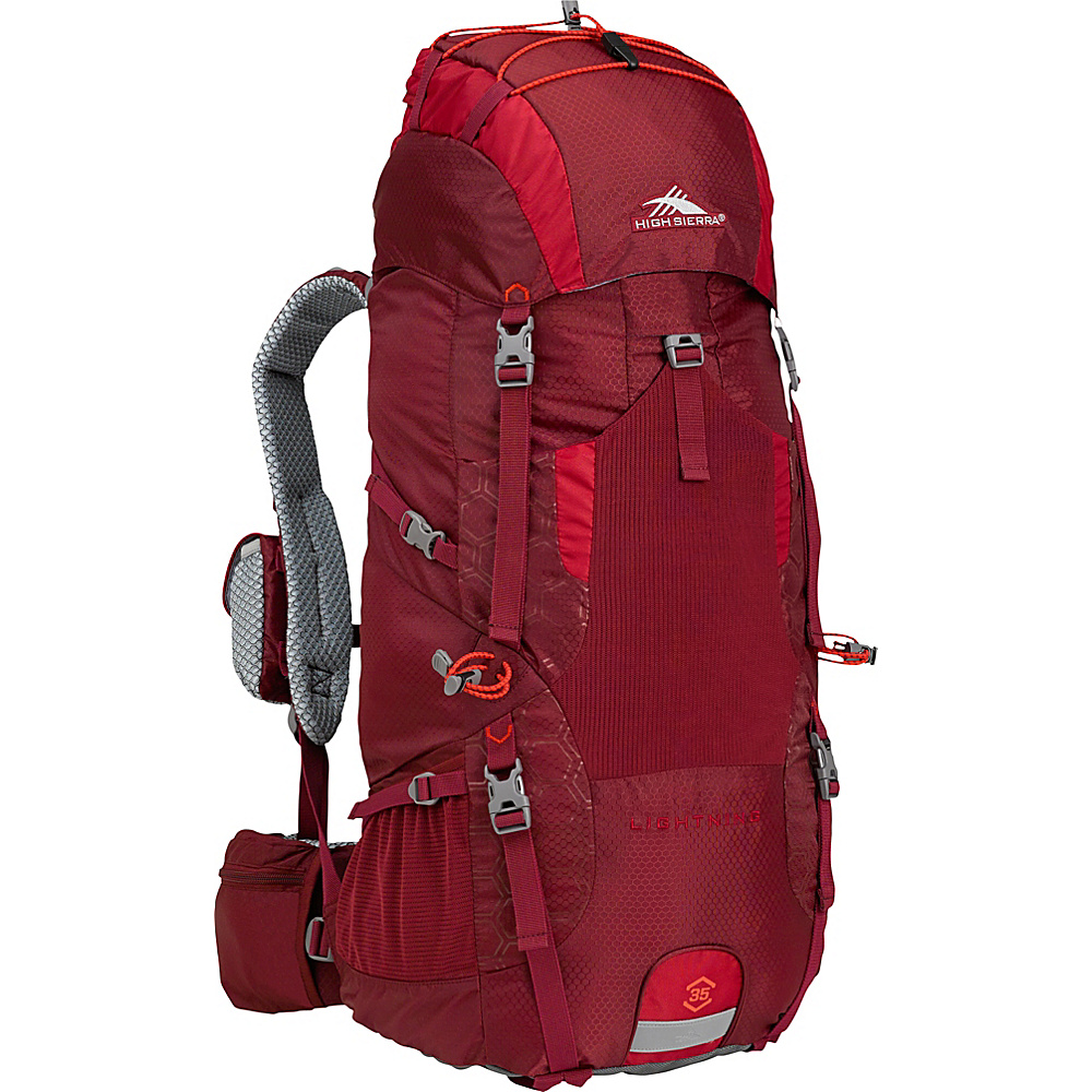 High Sierra Lightning 35 Frame Pack BRICK RED/CARMINE/RED LINE - High Sierra Day Hiking Backpacks