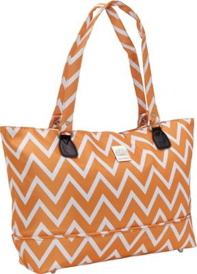 Jenni Chan Aria Madison Computer Tote Orange - Jenni Chan Fabric Handbags