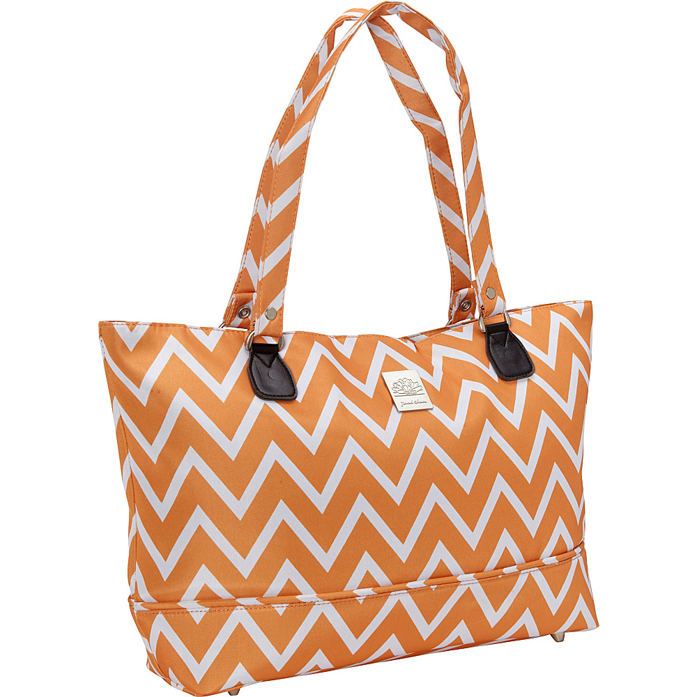 Jenni Chan Aria Madison Computer Tote Orange Jenni Chan Fabric Handbags