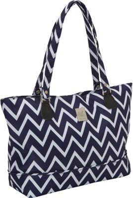 Jenni Chan Aria Madison Computer Tote Navy - Jenni Chan Fabric Handbags