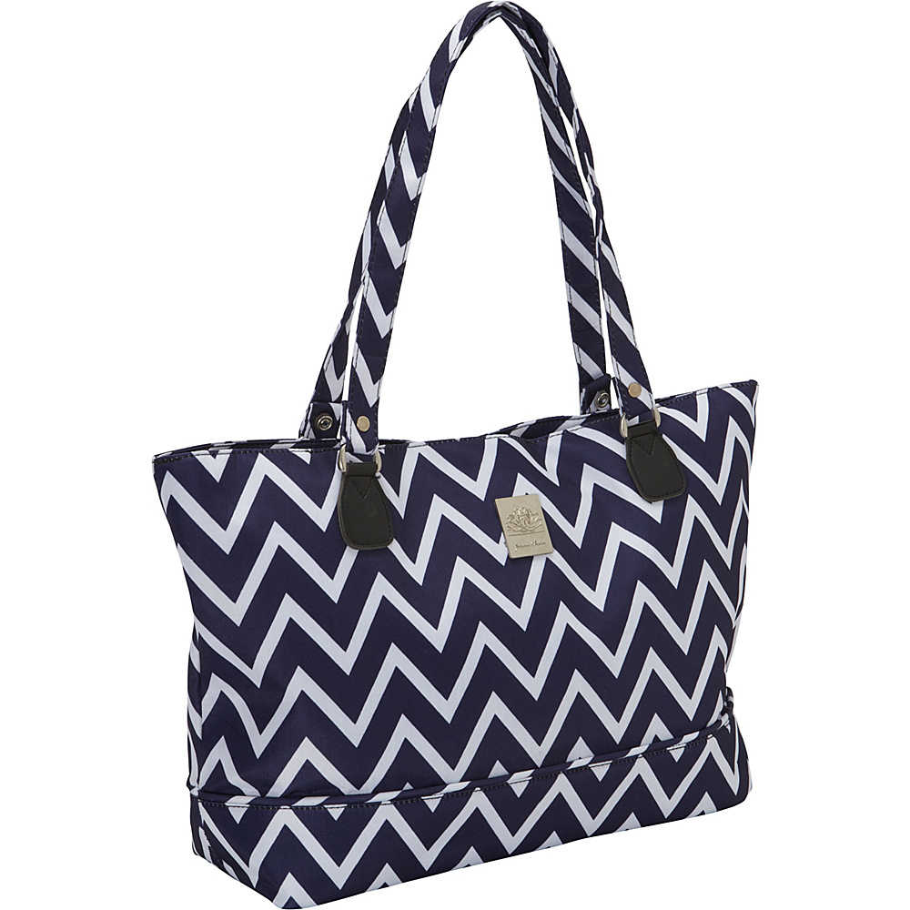 Jenni Chan Aria Madison Computer Tote Navy Jenni Chan Fabric Handbags