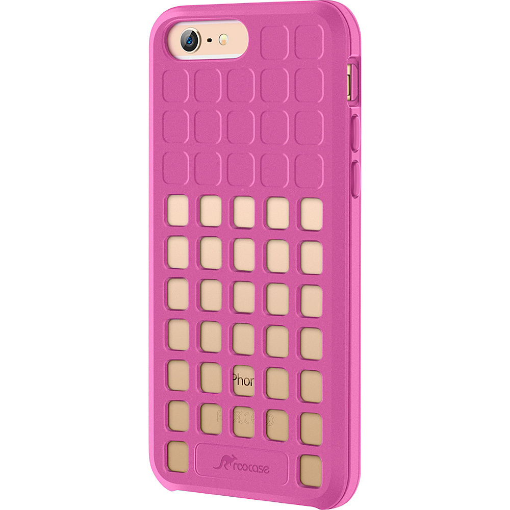 rooCASE Slim Fit Quadric TPU Case Protective Cover for iPhone 6 Plus 5.5 inch Pink rooCASE Electronic Cases