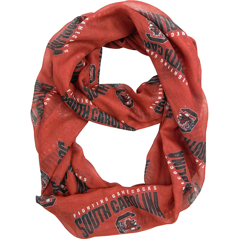 Littlearth Sheer Infinity Scarf - SEC Teams South Carolina, U of - Littlearth Hats/Gloves/Scarves - Fashion Accessories, Hats/Gloves/Scarves
