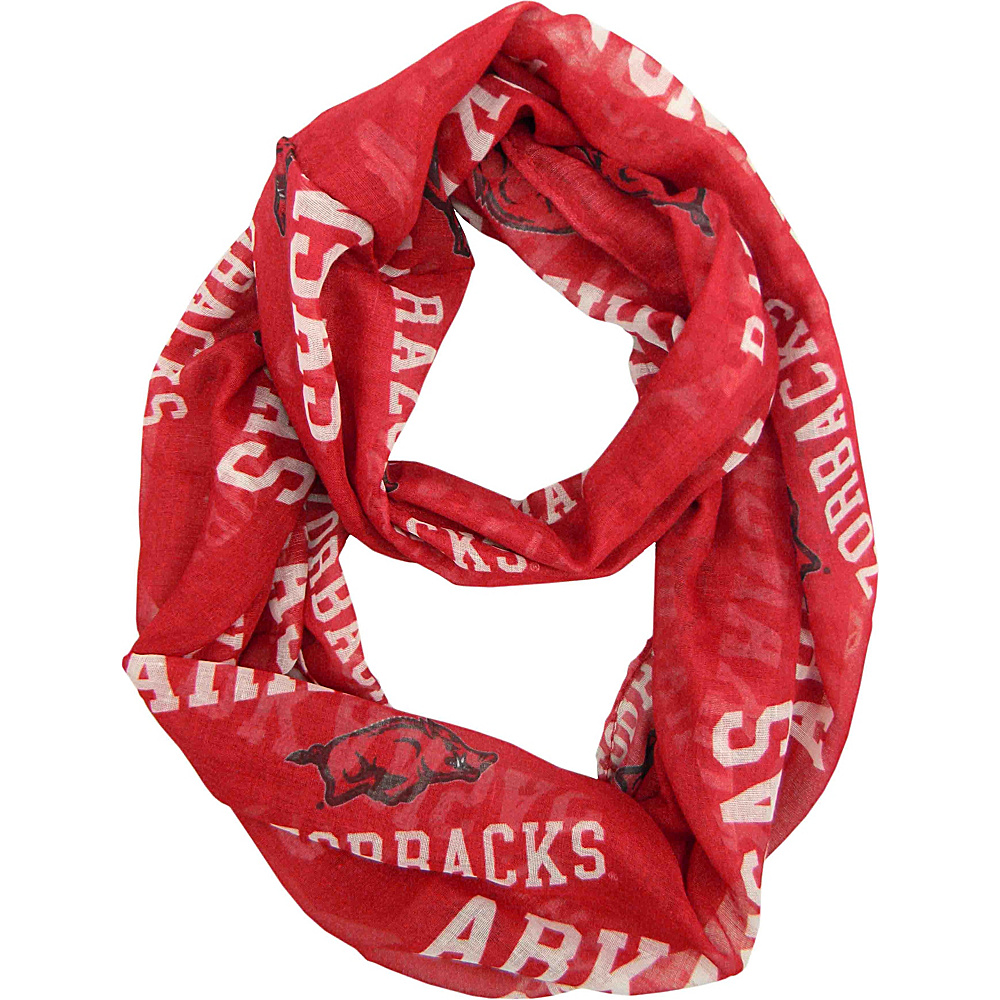 Littlearth Sheer Infinity Scarf - SEC Teams Arkansas, U of - Littlearth Hats/Gloves/Scarves - Fashion Accessories, Hats/Gloves/Scarves