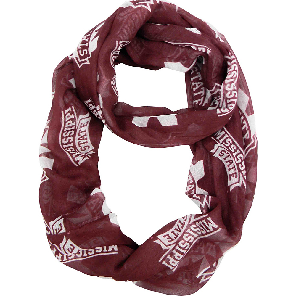 Littlearth Sheer Infinity Scarf - SEC Teams Mississippi State University - Littlearth Hats/Gloves/Scarves - Fashion Accessories, Hats/Gloves/Scarves
