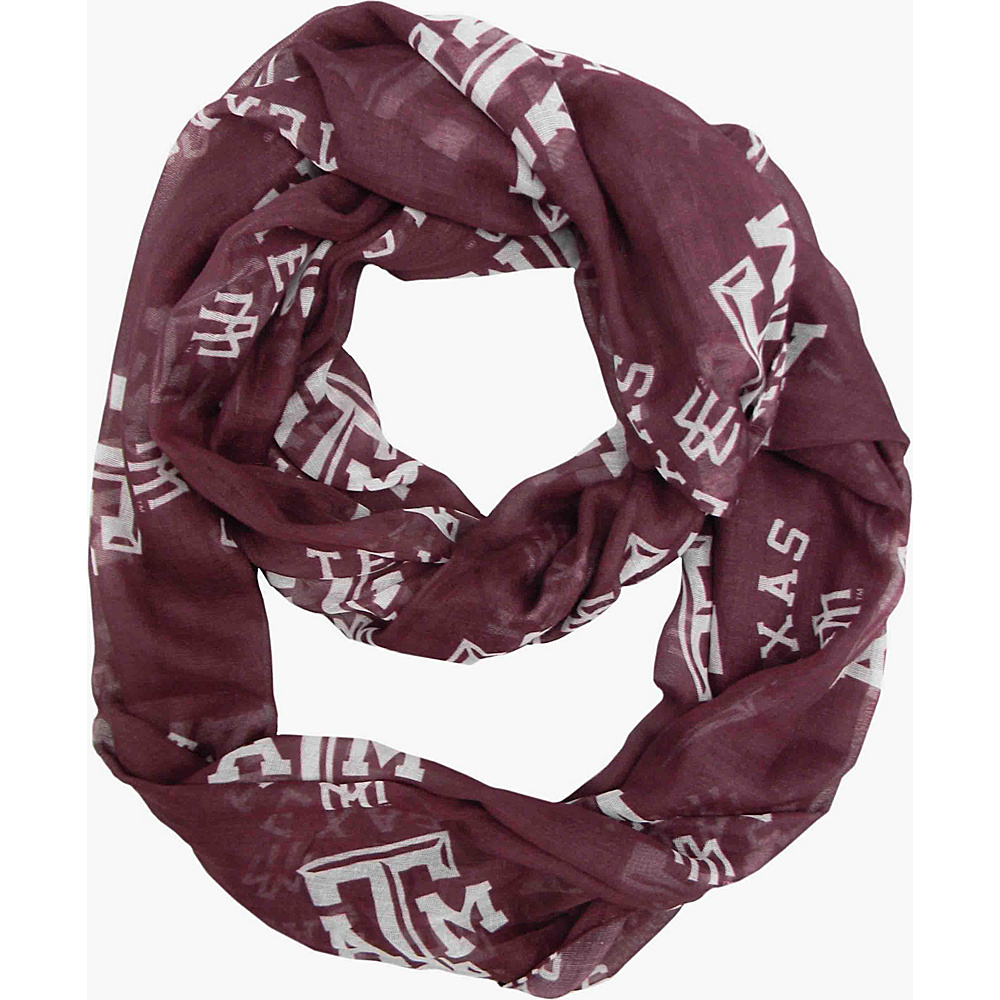 Littlearth Sheer Infinity Scarf - SEC Teams Texas A & M University - Littlearth Hats/Gloves/Scarves - Fashion Accessories, Hats/Gloves/Scarves