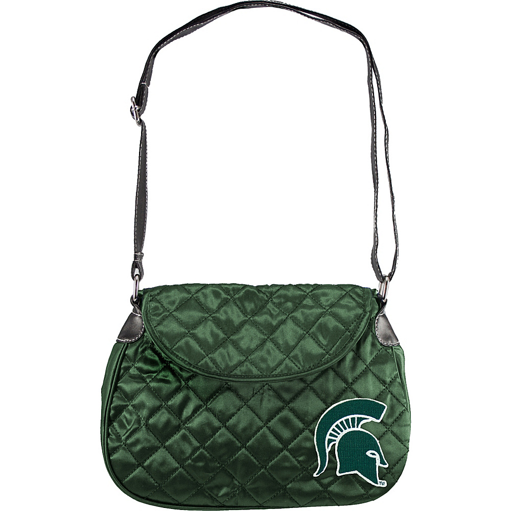 Littlearth Quilted Saddlebag - Big Ten Teams Michigan State University - Littlearth Fabric Handbags - Handbags, Fabric Handbags