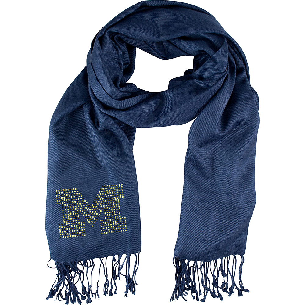 Littlearth Pashi Fan Scarf - Big Ten Teams Michigan, U of - Littlearth Hats/Gloves/Scarves - Fashion Accessories, Hats/Gloves/Scarves