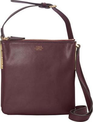 Vince Camuto Neve Small Crossbody Bordeaux - Vince Camuto Designer Handbags