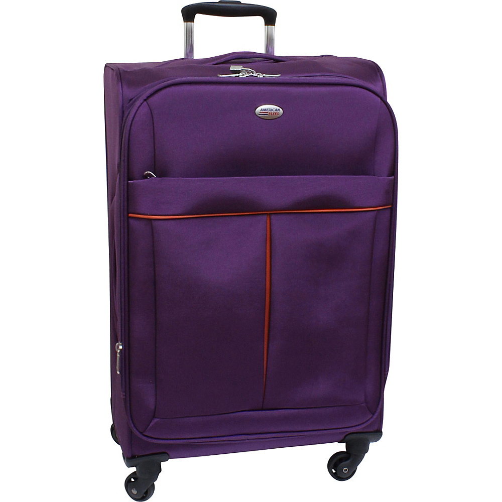 American Flyer Simply Lite! Collection 25 Spinner Purple American Flyer Softside Checked