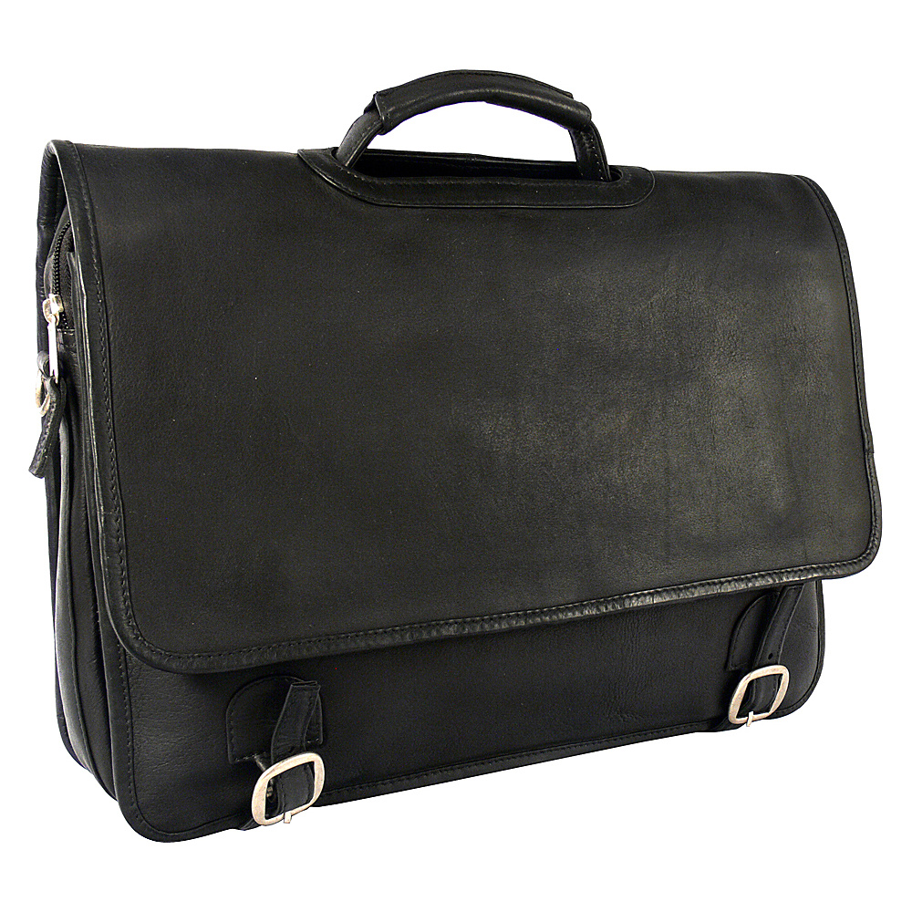 Latico Leathers Grammercy Park Laptop Brief - MD Black - Latico Leathers Non-Wheeled Business Cases - Work Bags & Briefcases, Non-Wheeled Business Cases