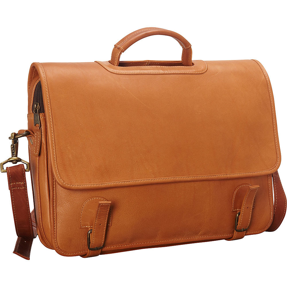 Latico Leathers Grammercy Park Laptop Brief - MD Natural - Latico Leathers Non-Wheeled Business Cases - Work Bags & Briefcases, Non-Wheeled Business Cases