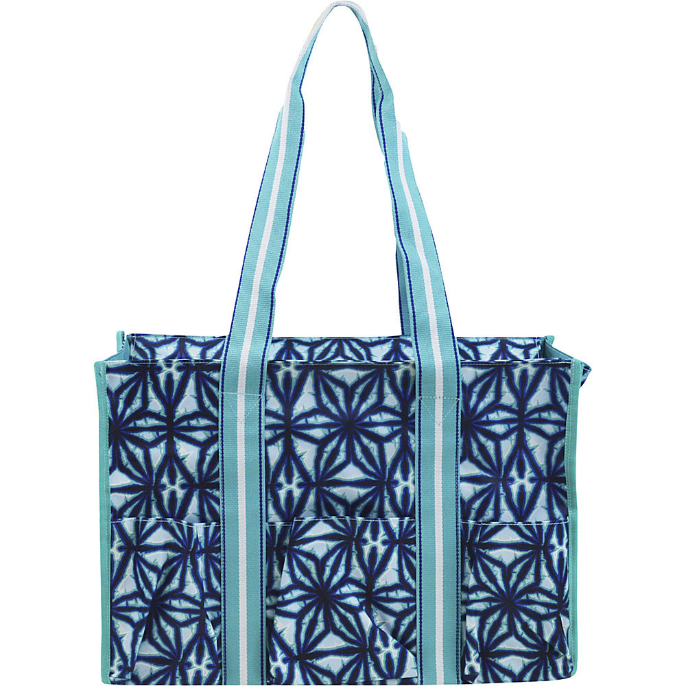 All For Color Organize It Tote Indigo Batik All For Color Fabric Handbags