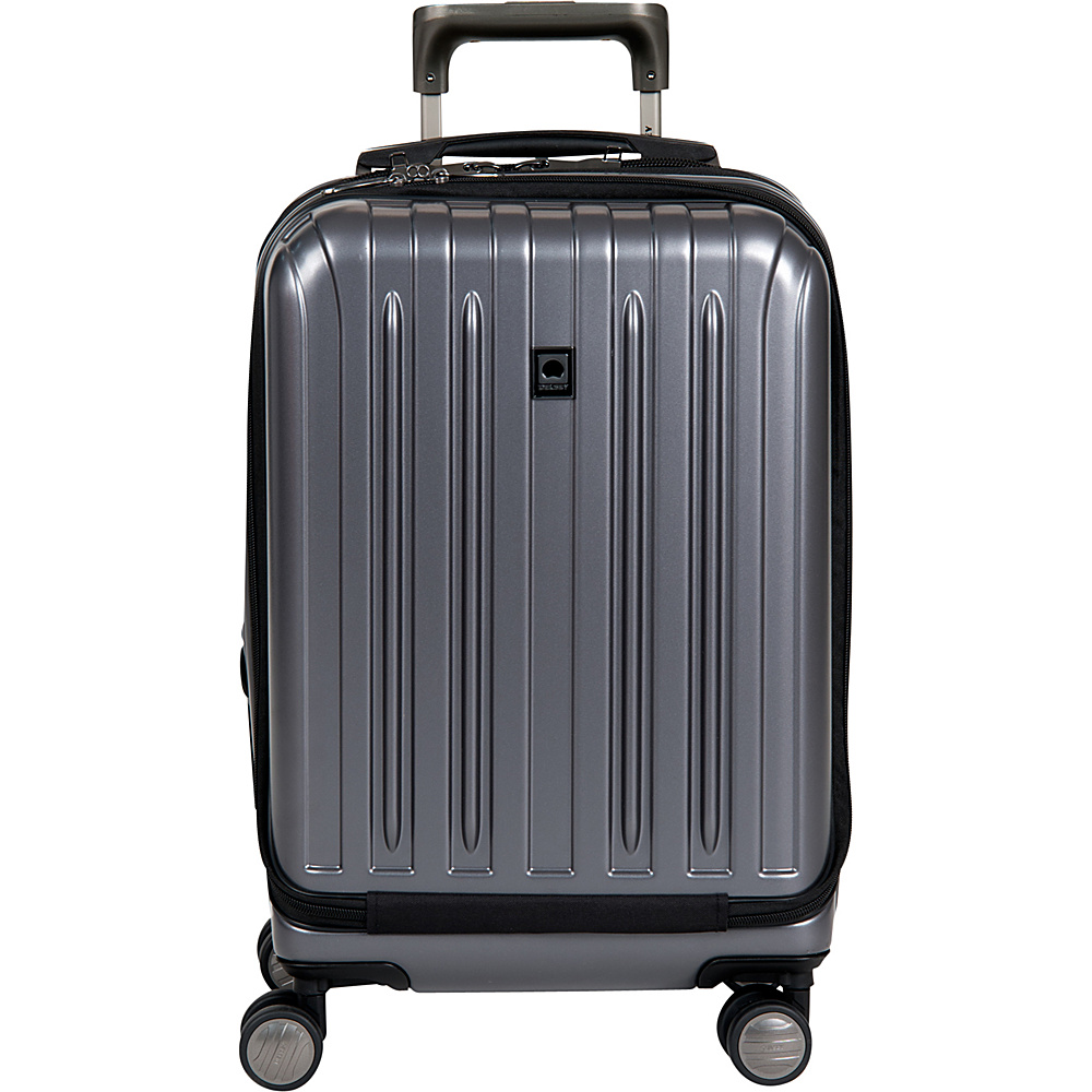 Delsey Helium Titanium International Carry On Spinner Trolley Graphite Delsey Hardside Carry On