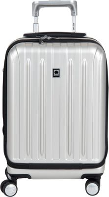Delsey Helium Titanium International Carry-On Spinner Trolley Silver - Delsey Hardside Carry-On