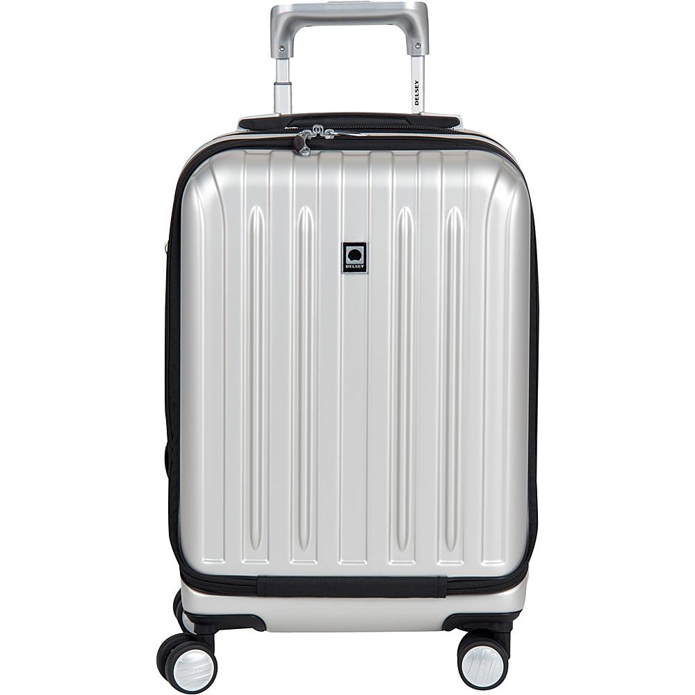 Delsey Helium Titanium International Carry On Spinner Trolley Silver Delsey Hardside Carry On