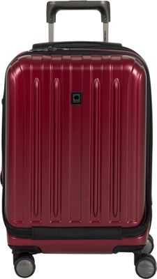 Delsey Helium Titanium International Carry-On Spinner Trolley Black Cherry - Delsey Hardside Carry-On