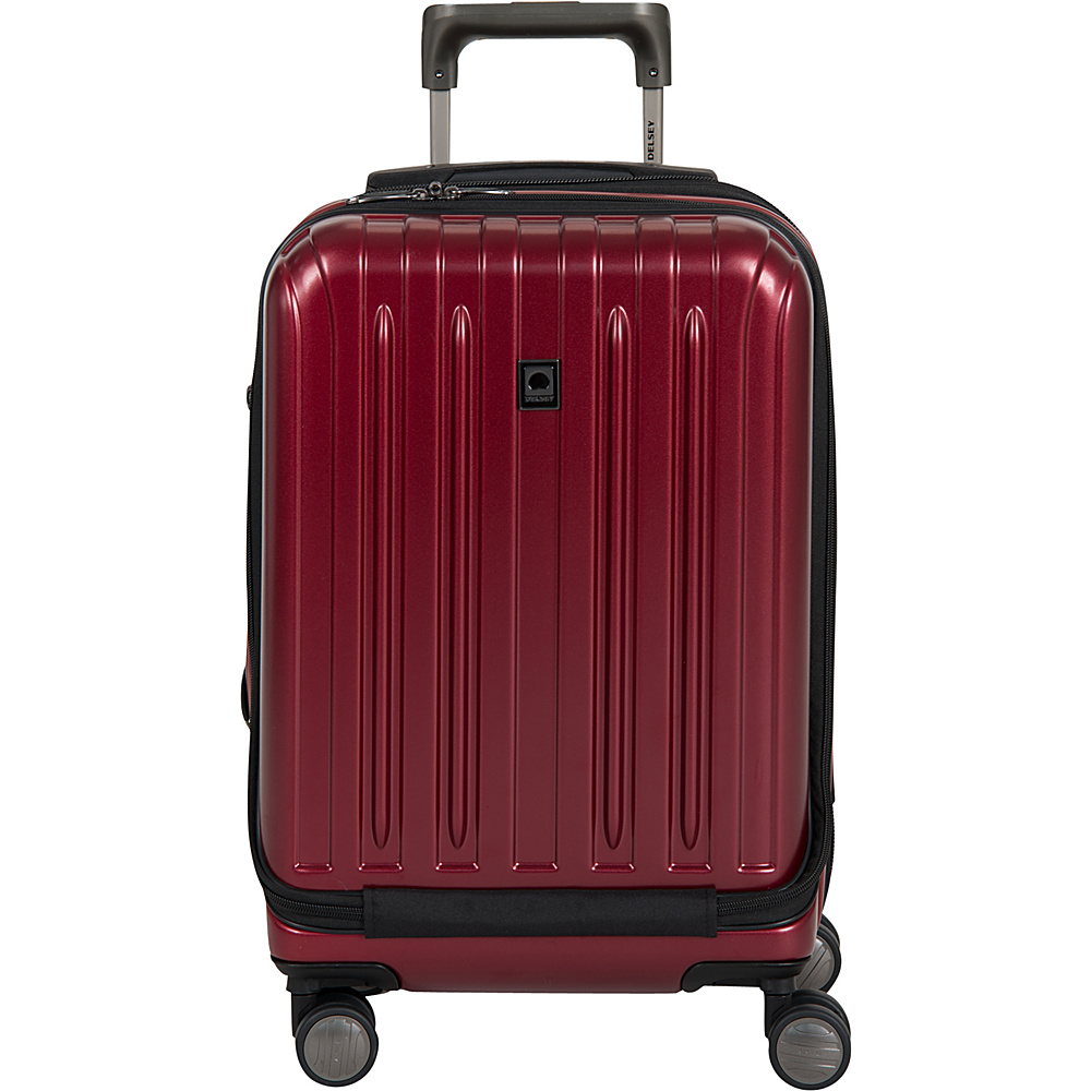 Delsey Helium Titanium International Carry On Spinner Trolley Black Cherry Delsey Hardside Carry On