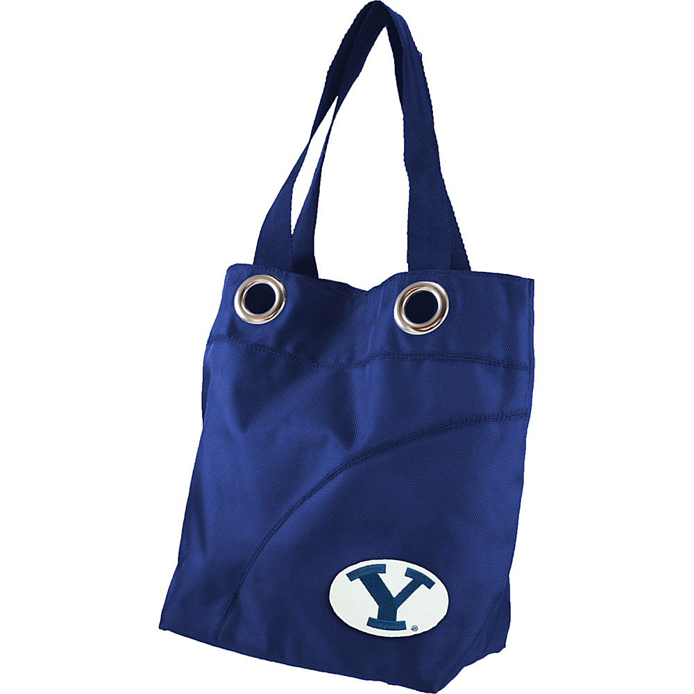 Littlearth Color Sheen Tote - College Teams Brigham Young University - Littlearth Fabric Handbags - Handbags, Fabric Handbags