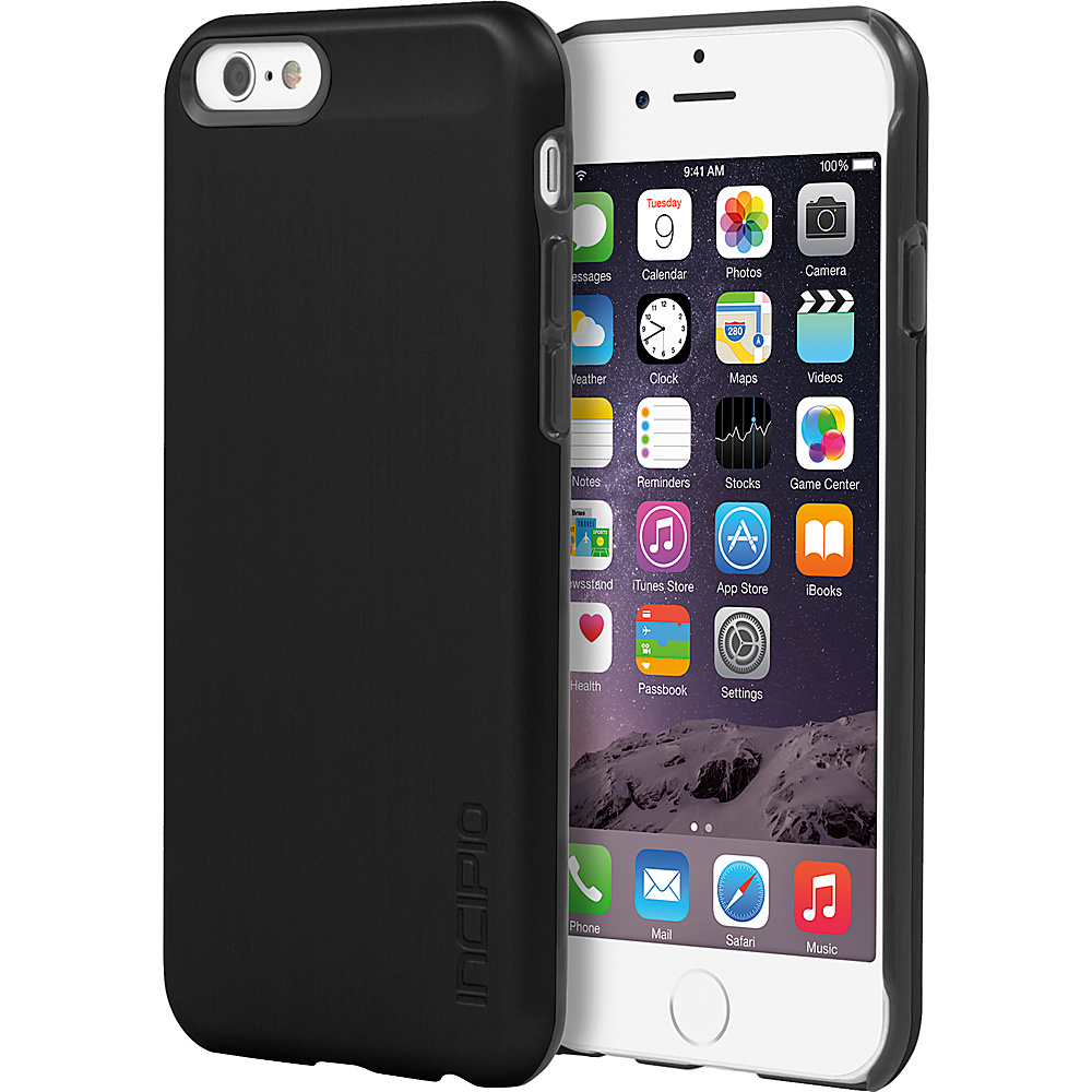 Incipio Feather SHINE iPhone 6 6s Case Black Black Incipio Electronic Cases