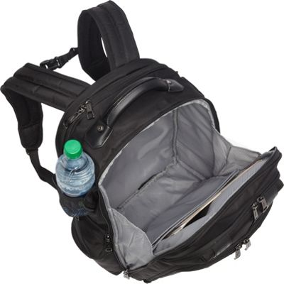 Main compartment and exterior water bottle pocket