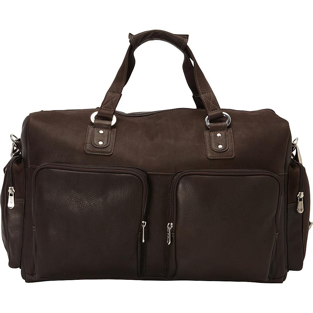 Piel Multi-Pocket Carry-On Chocolate - Piel Travel Duffels - Duffels, Travel Duffels
