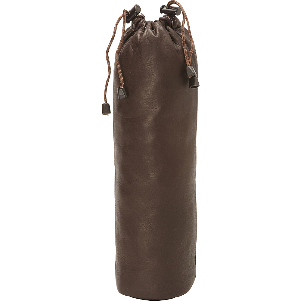 Piel Drawstring Single Wine Tote Chocolate - Piel Outdoor Accessories