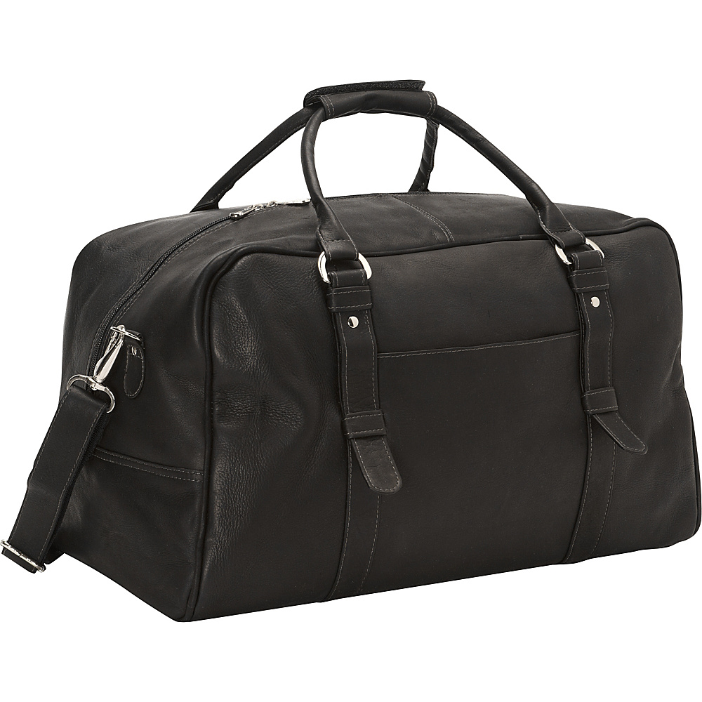 Piel Large Top-Zip Duffel Bag Black - Piel Travel Duffels - Duffels, Travel Duffels