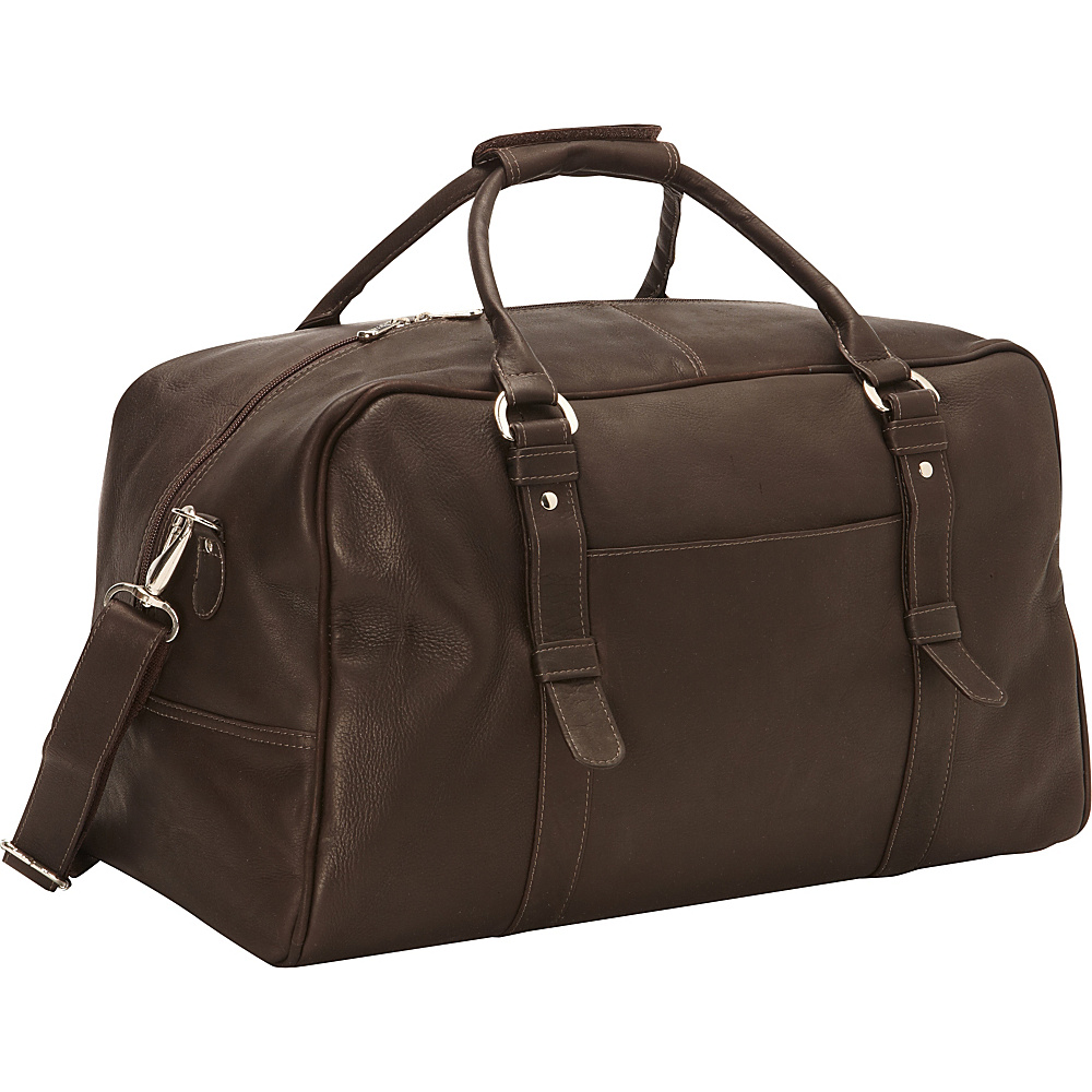 Piel Large Top-Zip Duffel Bag Chocolate - Piel Travel Duffels - Duffels, Travel Duffels